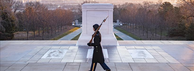 Early Morning Walk at the Tomb of the Unknown Soldier