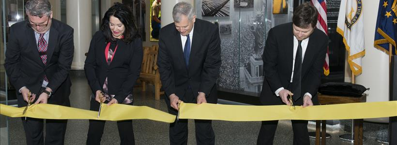 World War I Exhibit Ribbon Cutting Ceremony at Arlington National Cemetery Welcome Center