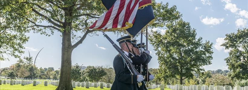 Military Funeral Honors With Funeral Escort For U.S. Army Sgt. Maj. Chaturbhuj Gidwani in Section 71