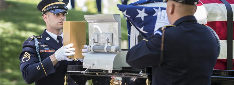 Military Funeral Honors with Funeral Escort for U.S. Army Chaplain (Lt. Col.) Frank Brett in Section 2