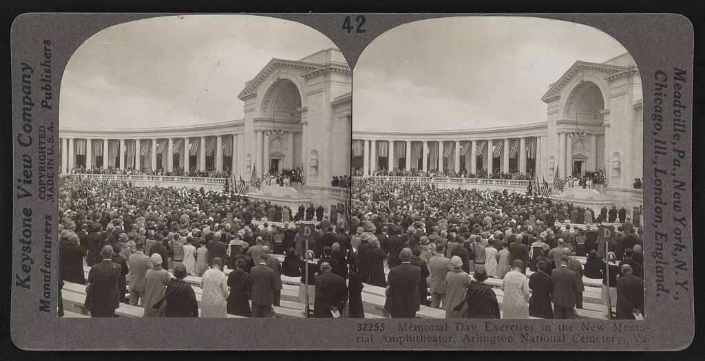 Memorial Day observance in the Memorial Amphitheater, 1920s