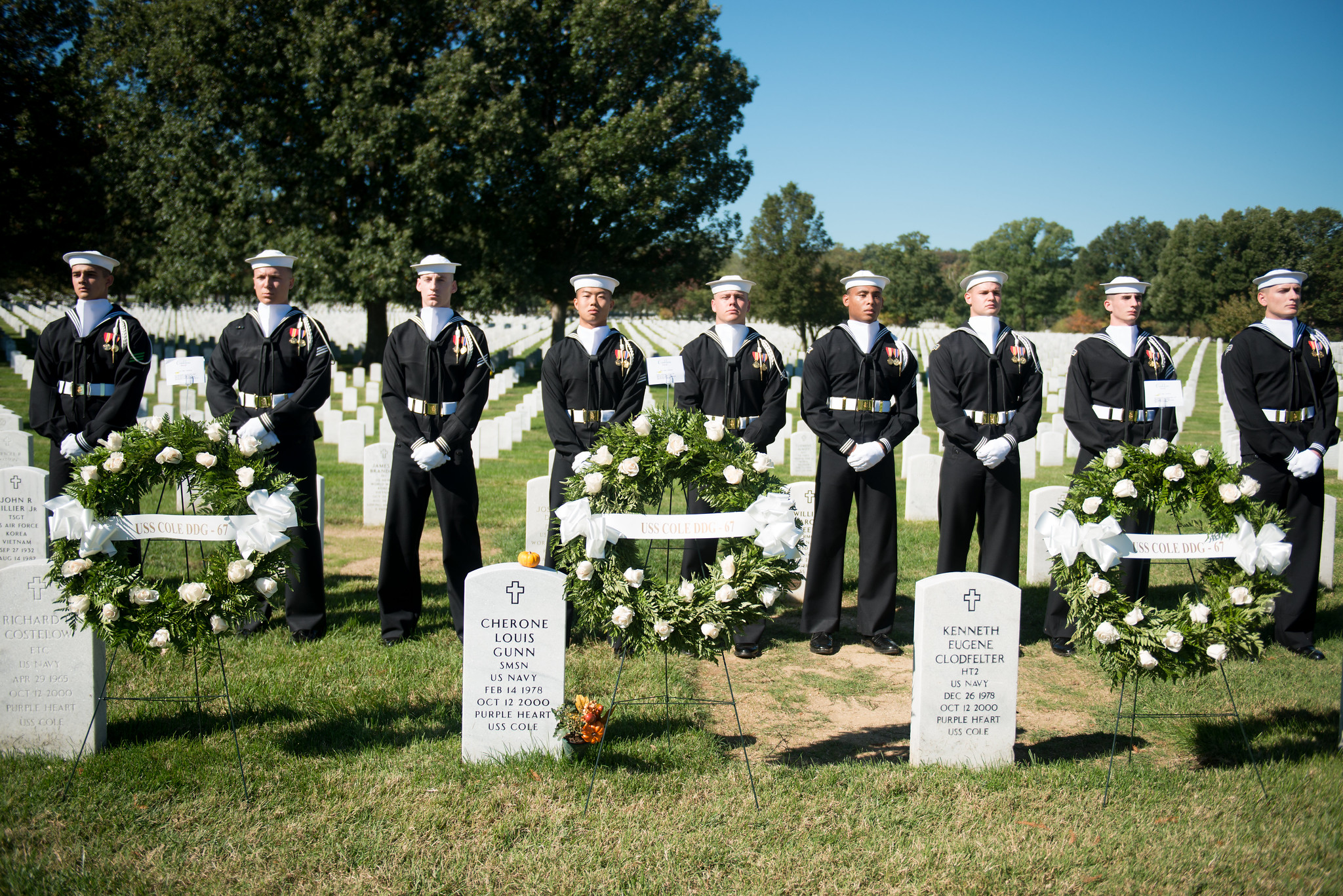 2015 ceremony commemorating the 15th anniversary of the attack on the USS Cole