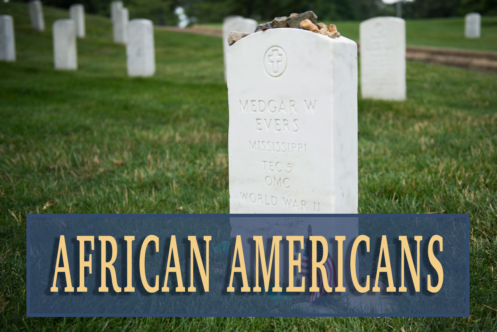 African American figures at Arlington National Cemetery