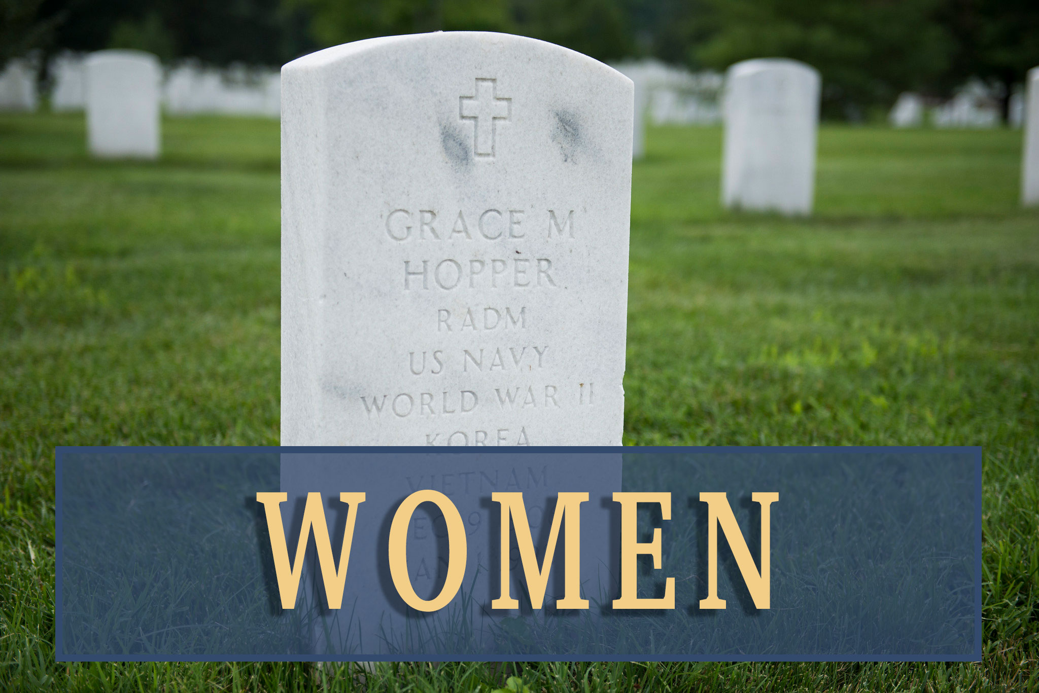 Women at Arlington National Cemetery