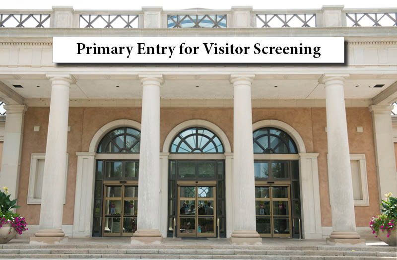 Visitor entrance at Arlington National Cemetery Welcome Center