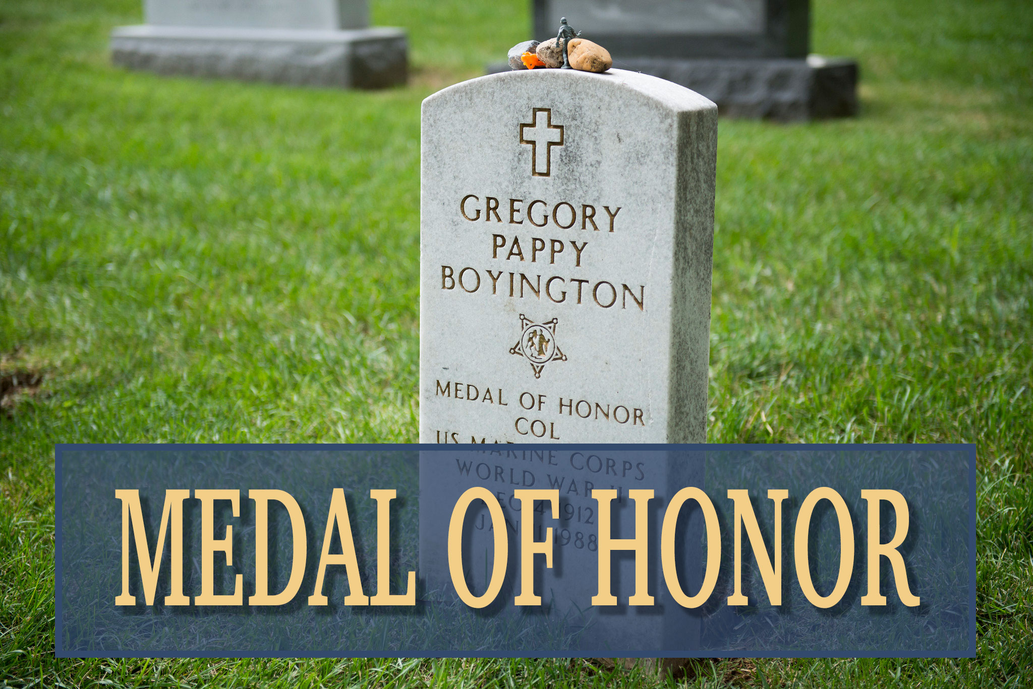 Gregory Pappy Boyington headstone