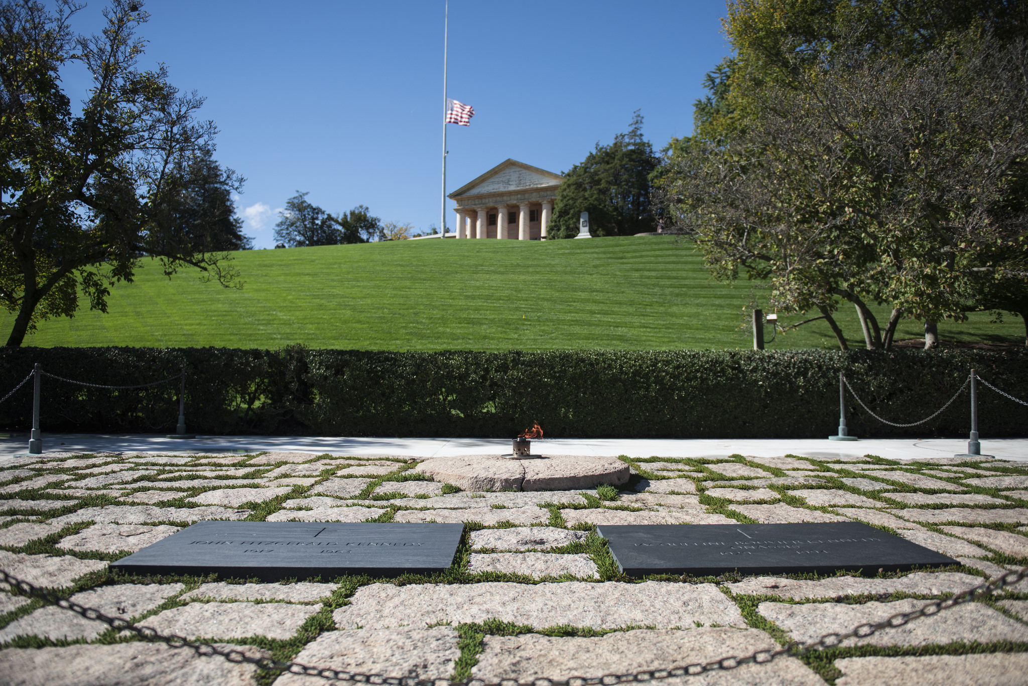 The gravesite of President John F. Kennedy