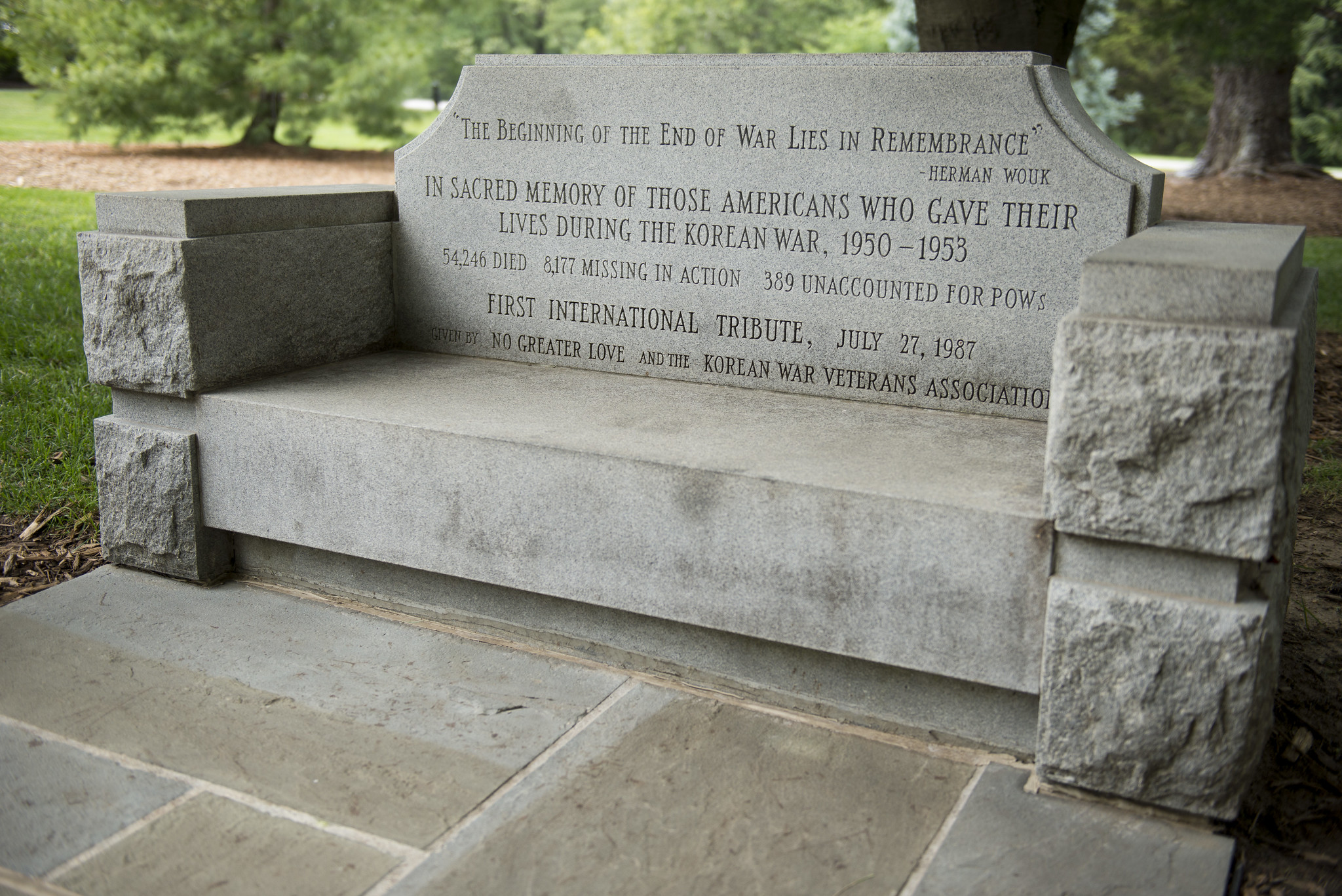 The Korean War Contemplative Bench