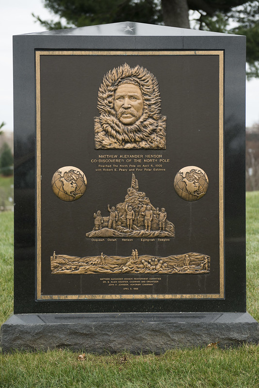 Gravestone of explorer Matthew Henson, who co-discovered the North Pole