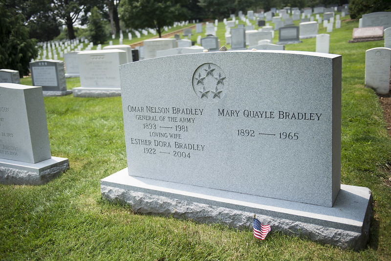 Gravestone of General Omar Bradley, the last five-star general in the U.S. military