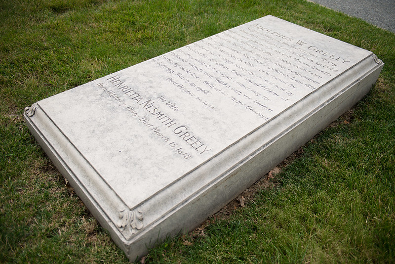 Gravestone of 19th-century military leader and explorer Adolphus Greely