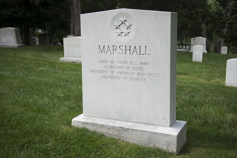 Gravesite of General George C. Marshall, one of the 20th century