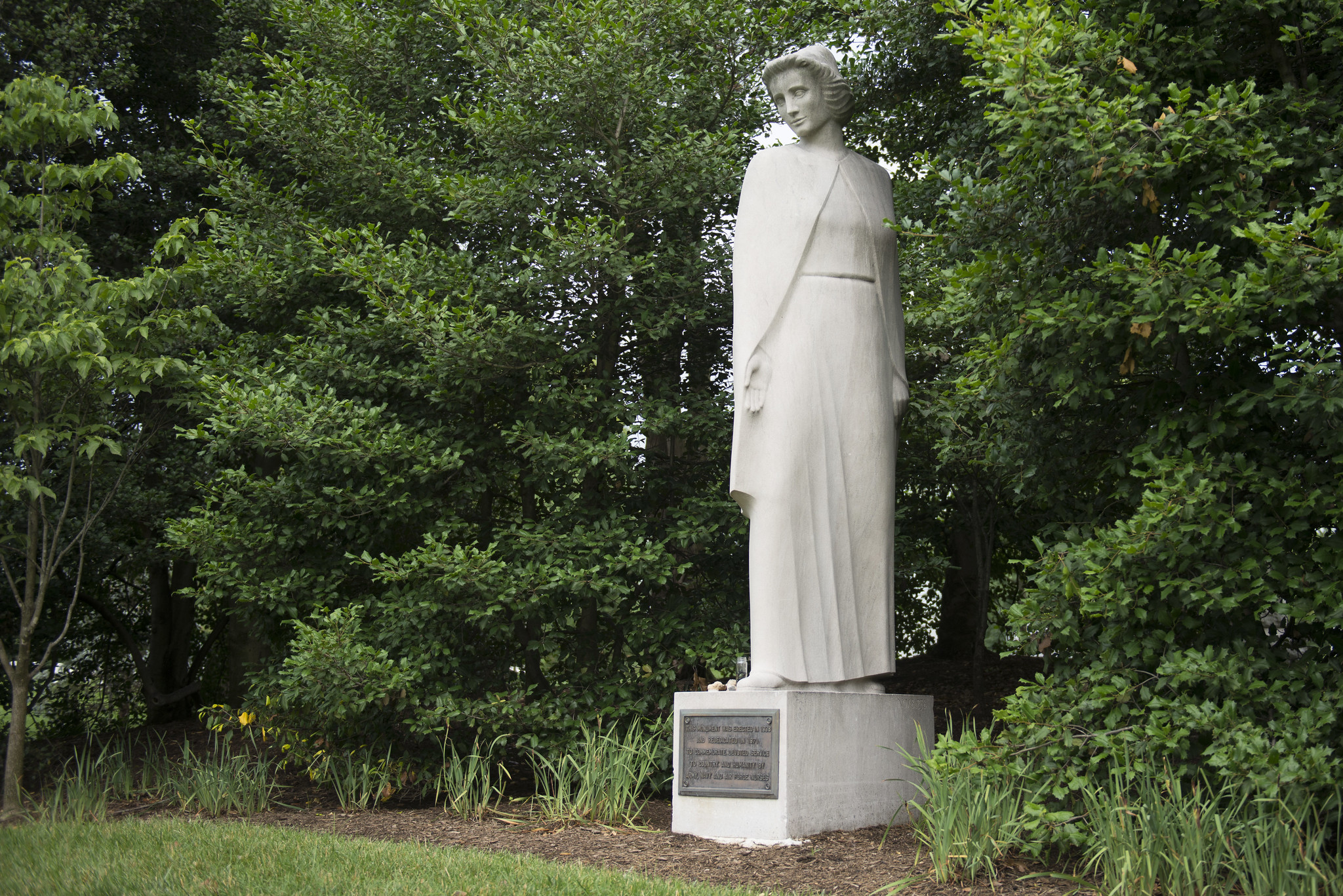 The Nurses Memorial, created by sculptor Frances Rich