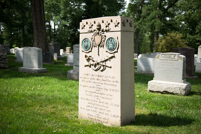 Gravesite of James McCubbin Lingan, one of the Revolutionary War soldiers buried at Arlington