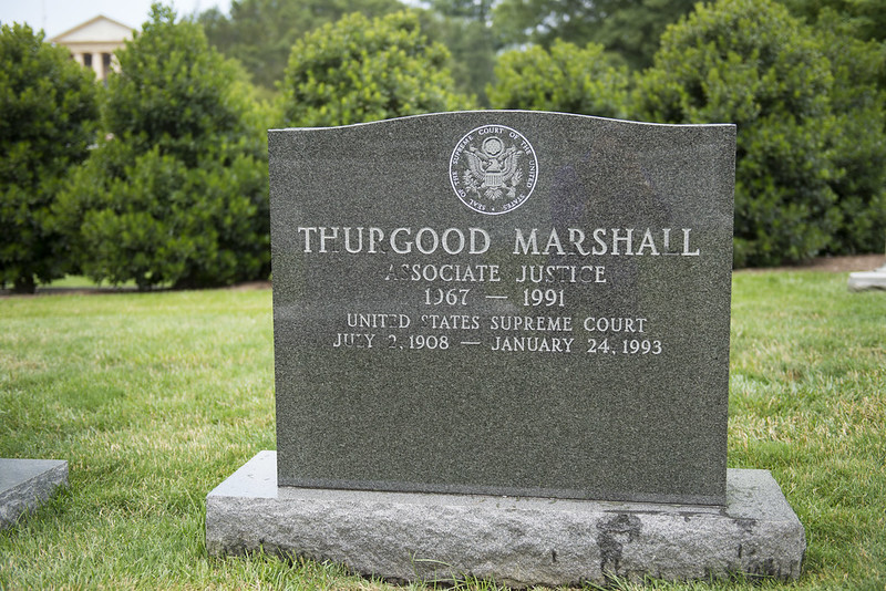 Gravestone of Supreme Court Justice Thurgood Marshall