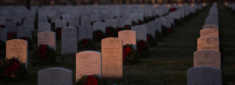 Sunrise over Arlington National Cemetery