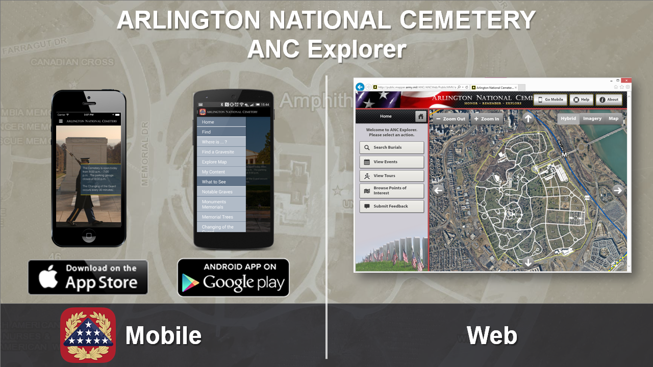 ANC Explorer Applications for Mobile and Web