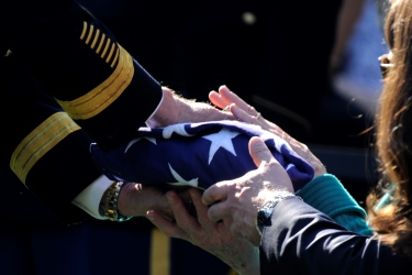 Burial Flag presented to Family