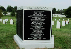 Granite group marker for 184 Pentagon victims